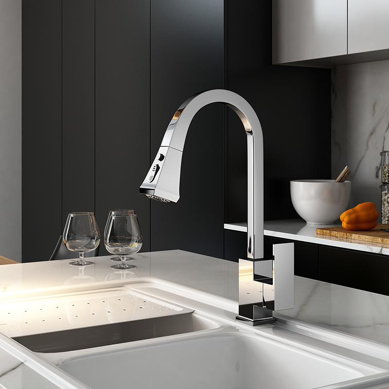 Black Kitchen Faucet Pull Out Kitchen Tap Single Hole Handle Swivel 360 Degree Hot Cold Water Black Kitchen Faucet Pull Out Kitchen Tap Single Hole Handle Swivel 360 Degree Hot Cold Water Mixer Tap Kitchen Water Tap Faucet