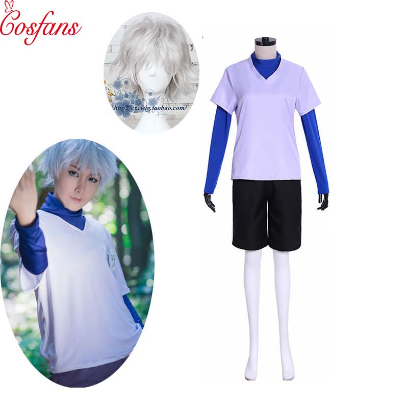 Hunter X Hunter Cosplay Killua Zoldyck Cosplay Costume For Adult Men Women Kids Halloween Outfits Custom Made Halloween And Wig