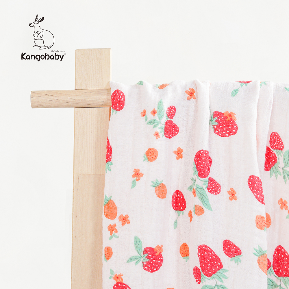 Kangobaby 4 Layers  Baby Blanket Newborn Blanket Baby Swaddle Blanket Bamboo Cotton Kids Muslin Baby Receiving Blanket 1piece