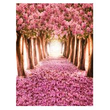цена на 5x7FT Vinyl cloth horizontal pink flowers Computer Background Painted Photography Children Backdrops for Photography Studio