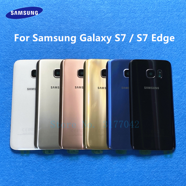 S7 Back Battery Cover Housing For Samsung Galaxy S7 Edge G935 G935F G935FD S7 G930 G930F G930FD Back Rear Glass Case