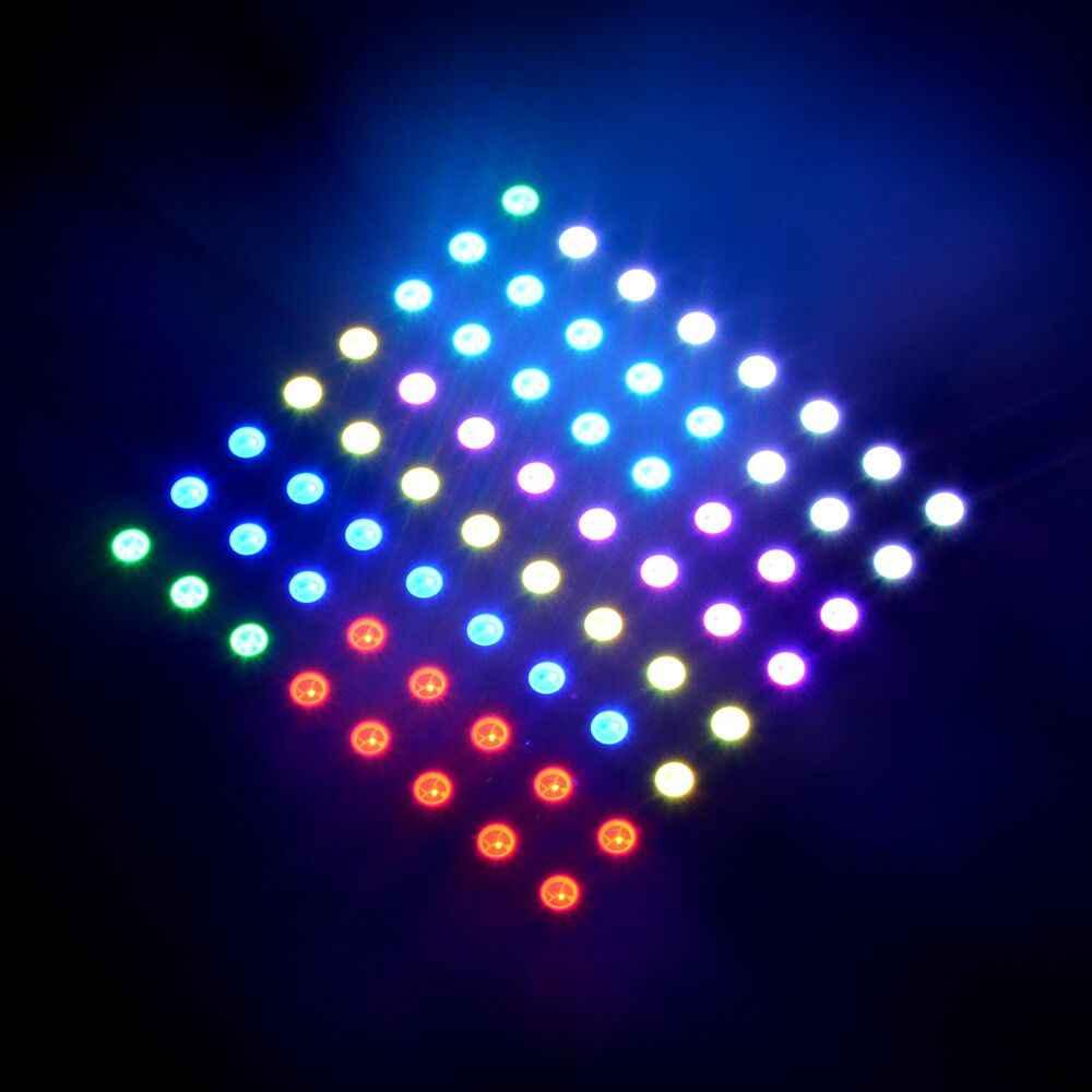 8*8 64 Pxiels WS2812B Bảng SK6812 Bảng Led Addressable 5050 RGB Đen PCB Full Màn Hình Hiển Thị Màn Hình Linh Hoạt ma Trận Bảng DC5V