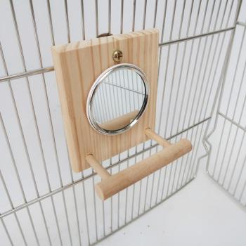10 * 12 Cm Mirror Stand Pet Funny Parrot Bird Toy Mirror Toy Accessories  for Parrot Bird  Pet Parrot  Cage Pet Supplies 4