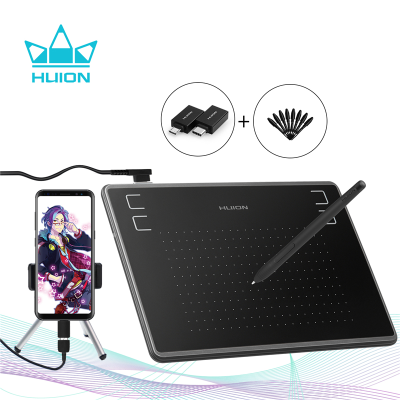 HUION H430P(OTG) 4096 Level Ultrathin Graphics Drawing Tablet Battery-Free Digital Pen Tablet Stylus (Perfect for osu) + Gift