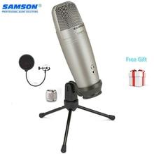 Samson C01u Pro Pop Filter Usb Studio Condensator Microfoon Real Time Monitoring Grote Diafragma Condensator Microfoon Voor Omroep