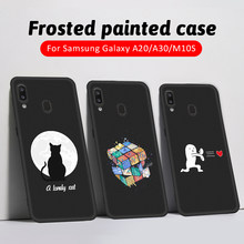 Moon Cat Printing Phone Cover Case For Samsung Galaxy M10 M20 M30 A50S A60 A10 A20 A30 A30S A50 A51 Soft TPU Silicon Back Coque(China)