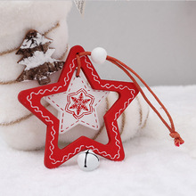 Christmas decoration for home tree wooden pendants Painted sign ornaments Closet door and window tag New Year