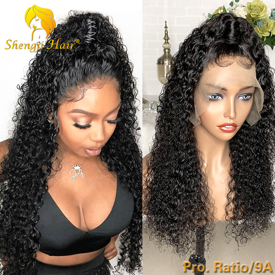 9A Brazilian Full Lace Wig Pre Plucked With Baby Hair 150% Remy Curly Glueless Full Lace Human Hair Wigs For Black Women SHENGJI