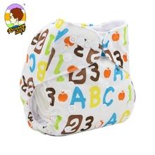 Risunnybaby Infant Leakproof Nappies Newborn Baby High Waist Swimming Trunks Baby Boys Girls Cartoon Printed Cloth Diaper