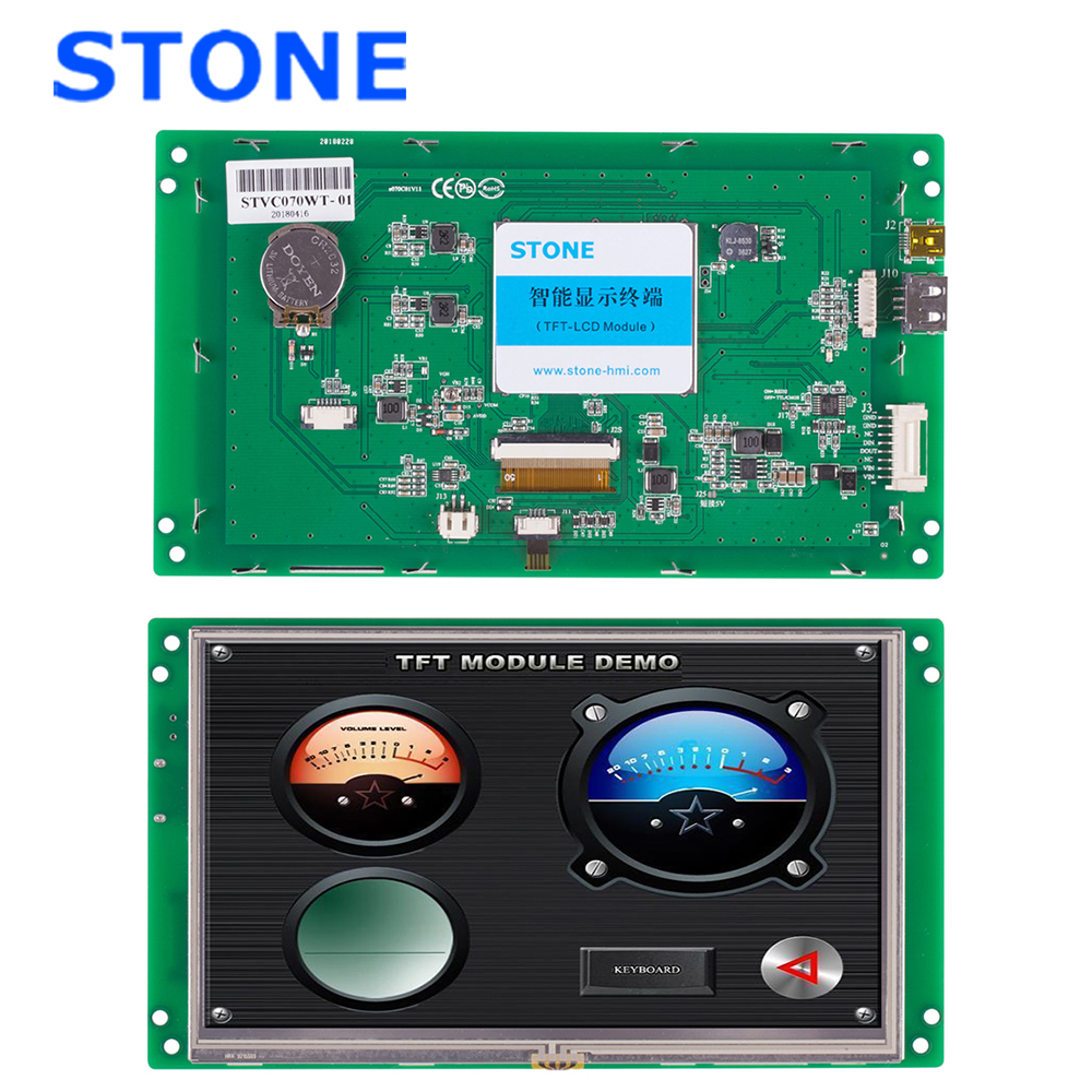 TFT HMI Touch Screen 7 Inch Operator Interface Panel /& Program Cable CNC System
