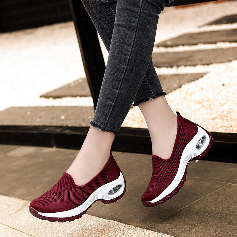 MCCKLE Women Autumn Mesh Sneakers Ladies Slip On Knitting Walking Shoes Female Casual Comfortable Woman Loafers Flat Shoes 2020 4