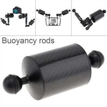 155mm Length 60mm Diameter Durable Dual Balls Carbon Fiber Floating Arm for Diving Photography