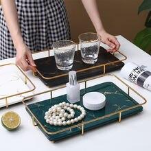 Скандинавский креативный керамический поднос для ванной комнаты