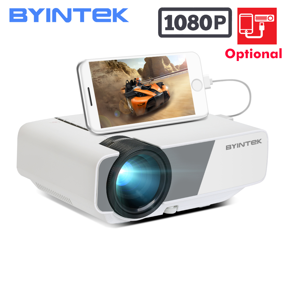 BYINTEK SKY K1 K1plus LED Portable Home Theater HD Mini Projector Optional Wired Sync Display For