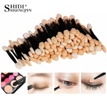 30PCS Disposable Eyeshadow Brushes Kits Dual Sided Sponge Nylon Sets Eye Shadow Brushes Makeups For Cosmetic Applicator Make ups