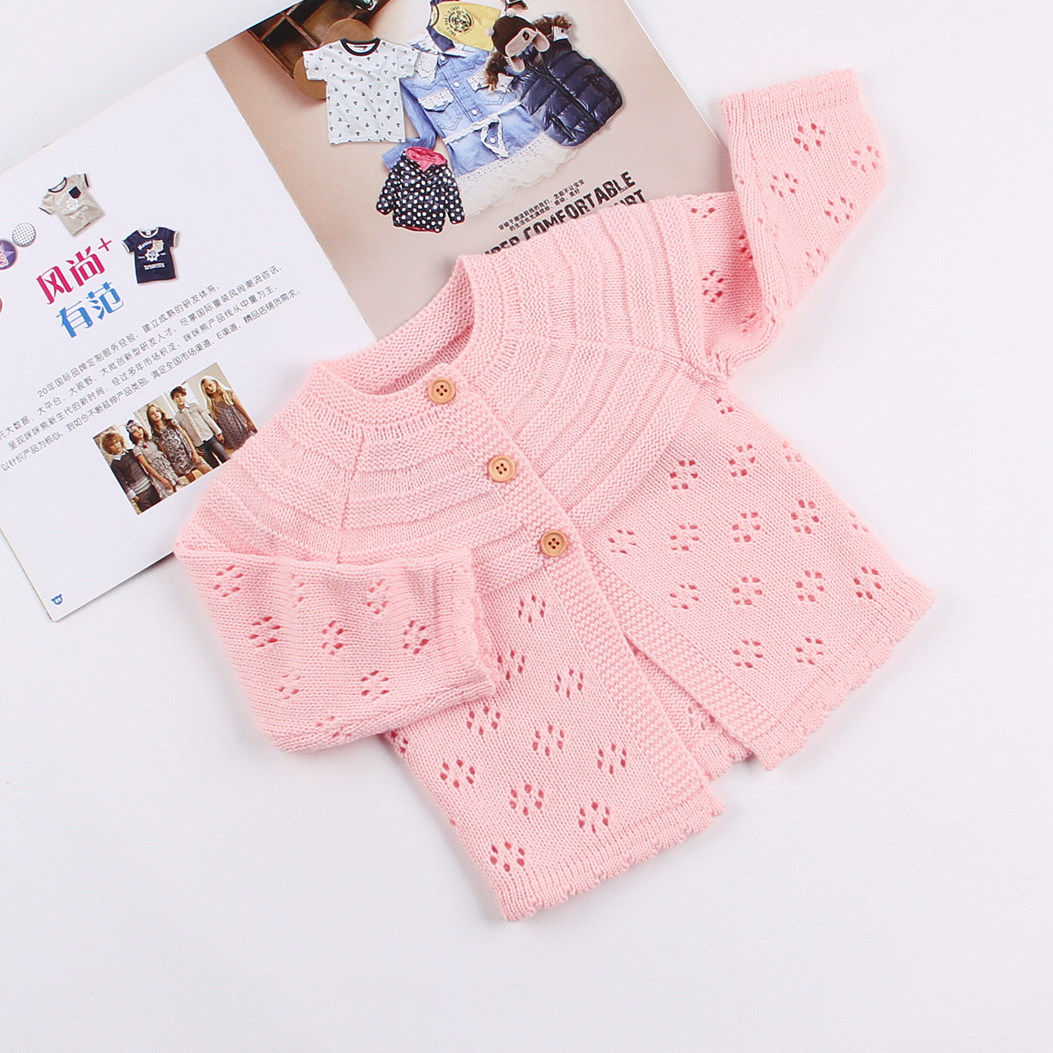 Baby Sweater For Girls Kids Cardigan Clothes Knitwear Childrens Clothing