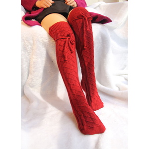 Winter Knit Extra Long Boot Socking Over Knee High Warm Sock Knitted Over Knee Black White Red Long Warm Tight High For Women