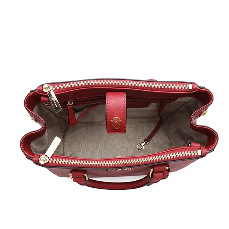 THEFOXSAY frauen Mode Casual Schulter Tasche Griff Tasche Tasche 6 Farben Dame Großen Kapazität Geldbörse Quaste Leder Weibliche Große tote - 6