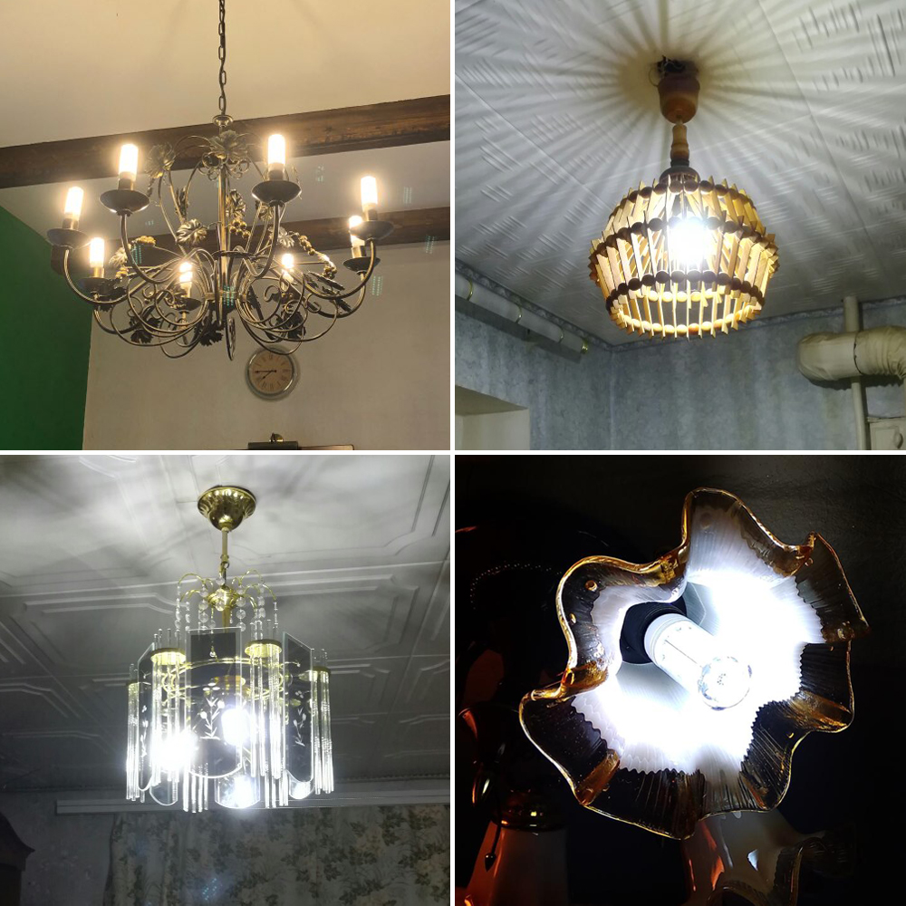 ANBLUB E27 lámpara LED E14 LED Bombilla de maíz 5730 SMD 220V 24 36 48 56 69 72 lámpara colgante de LED luz de la vela para la iluminación del hogar Decoración