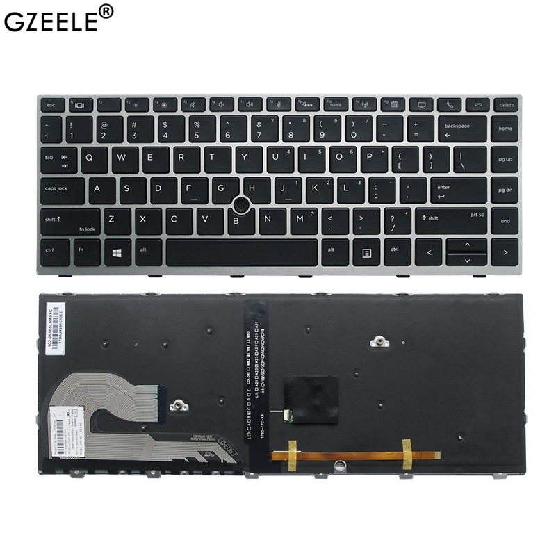 NEW US Laptop Keyboard FOR HP EliteBook 840 G5 846 G5 745 G5 With Mouse Point L14378-001 L11307-001 US Laptop Keyboard Backlit