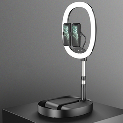Makeup Selfie Ring Light Desktop Dimmable LED Adjustable Height Photography With Phone Holder Studio Eye Protection USB Charging