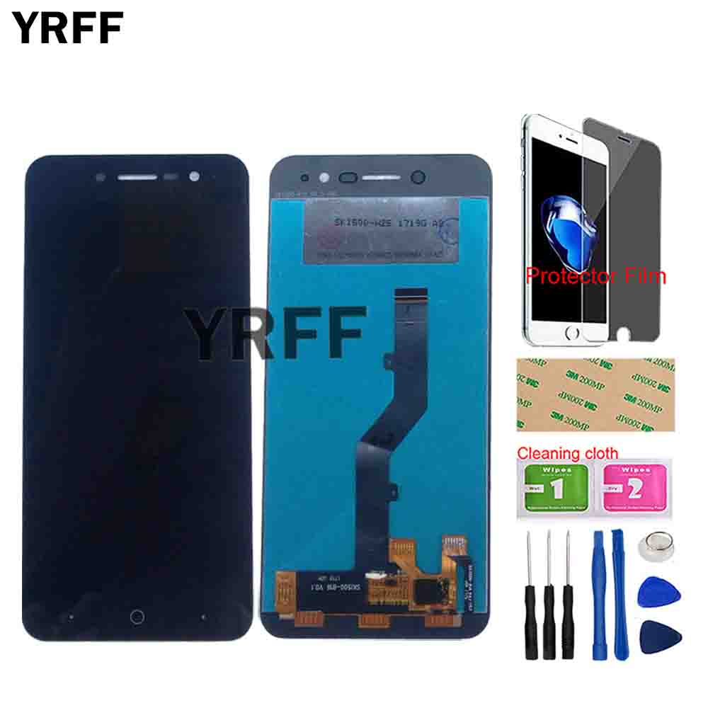 Phone LCD Display For <font><b>ZTE</b></font> <font><b>Blade</b></font> <font><b>A520</b></font> LCD Display Touch <font><b>Screen</b></font> Digitizer Assembly For <font><b>ZTE</b></font> <font><b>A520</b></font> Repair Parts Tools Protector Film image