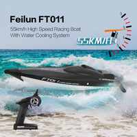 Feilun FT011 65cm 2.4G 2CH RC 55km/h High Speed Racing Boat Ship Speedboat with Water Cooling System Flipped Brushless Motor