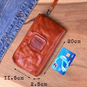Image 5 - AETOO วัวแท้หนังผู้ชายกระเป๋าสตางค์หนังแท้กระเป๋าสตางค์สำหรับชายซิปขนาดใหญ่ผู้ถือกระเป๋าริ้วรอยกระเป๋า