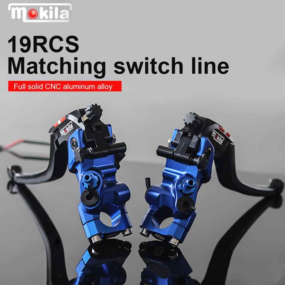 Pair L/&R Motorcycle 19 RCS Brake Master Cylinder Cable clutch Radial Brake Pump