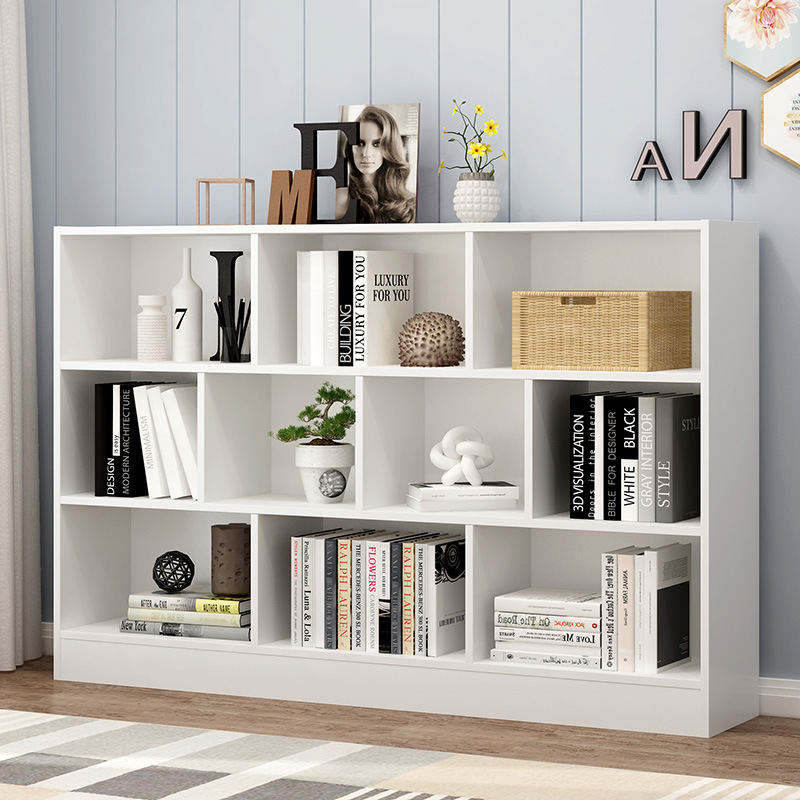 Simplicity Bookcase Bookshelf Simple Floor Cabinet Students Storage Small Cabinet Free Combination Plaid Cabinet