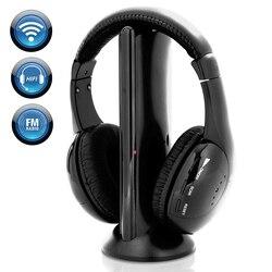 Беспроводные Hi-Fi стереонаушники 5 в 1 с объемным звучанием, FM-радио и HD микрофоном для iPhone, Samsung, Xiaomi, планшетов, ПК, ТВ