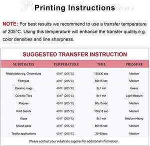 10sheets 100g A4 Heat Transfer Paper Sublimation paper for Any Inkjet Printer with Sublimation Ink Letter Size