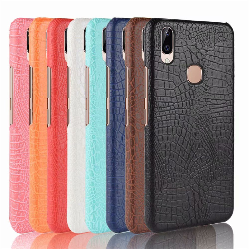 For Vivo Y83 Pro Case Luxury Retro Crocodile Cool Leather Pattern Back Cover For Vivo Y83 Y 83 Pro phone Bags Coque