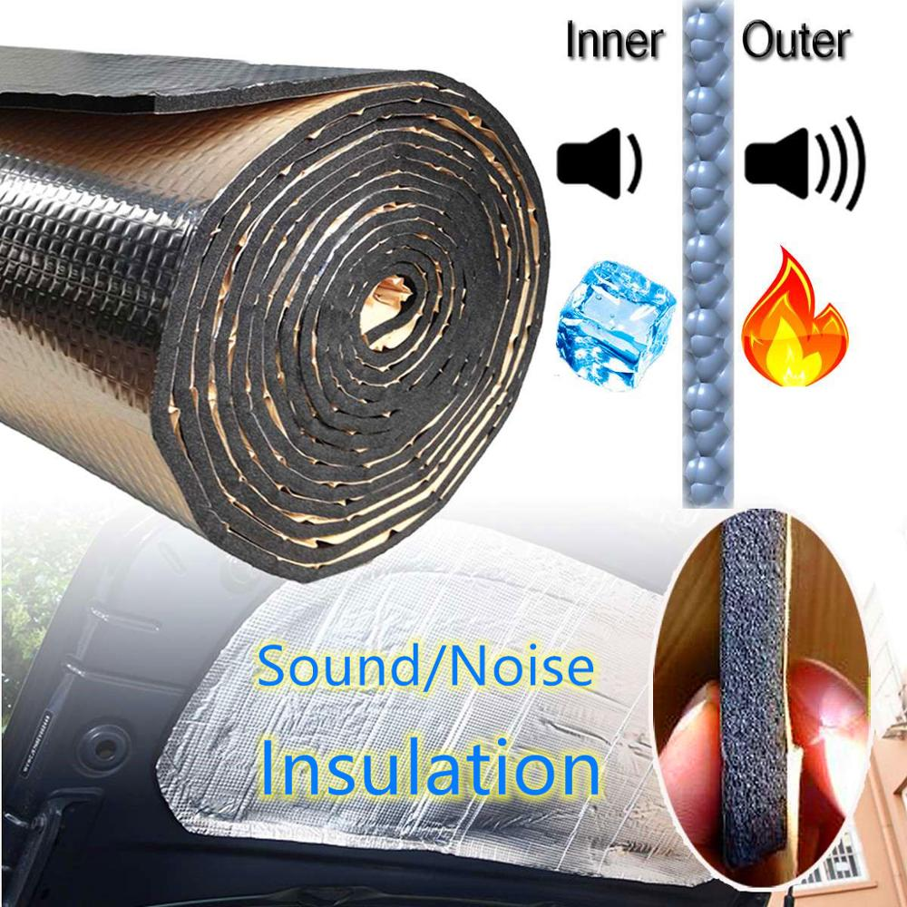 140x100cm Noise Insulation For Car  15 Sqft Car Sound Deadener Mat  Deadening Hood Engine Firewall Heat Aluminum Foam Sticker
