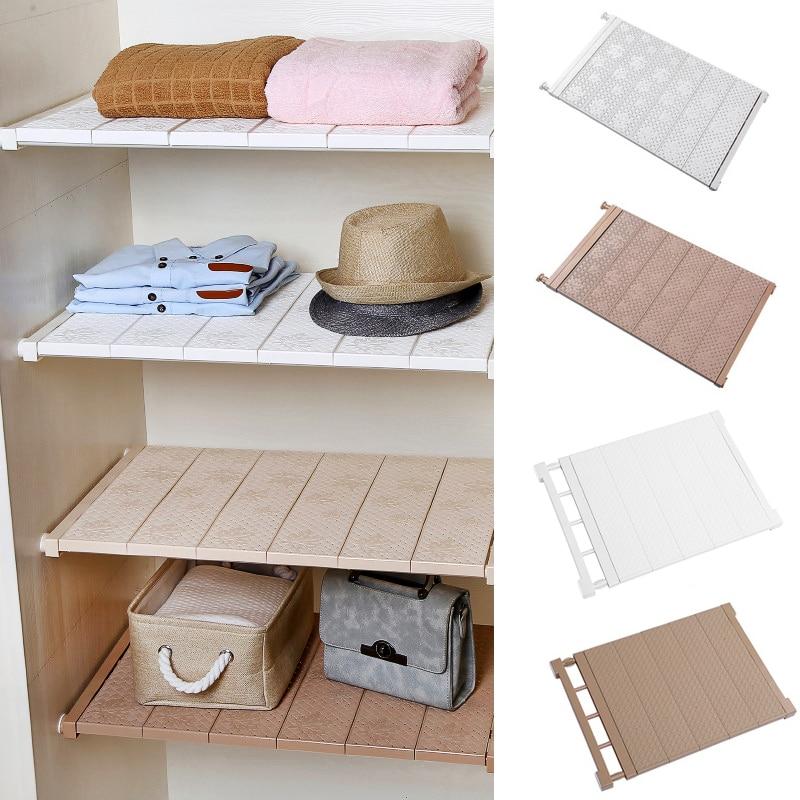 Home Adjustable Kitchen Storage Rack Cabinet Cupboard Wardrobe Closet Organizer Storage Shelf Wall Mounted Bathroom Shelf Holder
