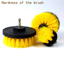 Electric-Drill-Brush-Kit Carpet-Glass Nylon-Brushes Power-Scrubber Round Plastic Cleaning