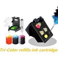 Nachfüllbare Patrone Ersatz für HP 301 Farbe Tinte Kompatibel für HP Deskjet 2540 3055A 2542 2544 Drucker