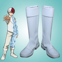 Costumebuy My Hero Academia Boku no Hero Akademia Cosplay Todoroki Shoto Shoes Boots Costume Accessory Halloween Props Any Size