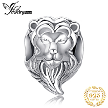 JewelryPalace Lion Head 925 Sterling Silver Beads Charms Silver 925 Original For Bracelet Silver 925 original For Jewelry Making