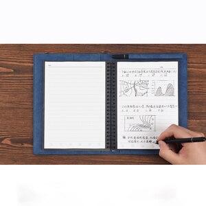 Image 2 - 2019 Riutilizzabili Eraserable Notebook Diario Notepad Annata di Cuoio DELLUNITÀ di elaborazione Elinbook A5 Nota Libro di Carta del Regalo Della Cancelleria Viaggiatore Ufficiale
