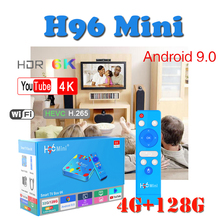 Newest Smart console H96 MINI android 9.0 tv box bluetooth Wifi 2.4G/5G Quad-Core Allwinner H6 4GB 128GB Set-Top-Box for Youtube