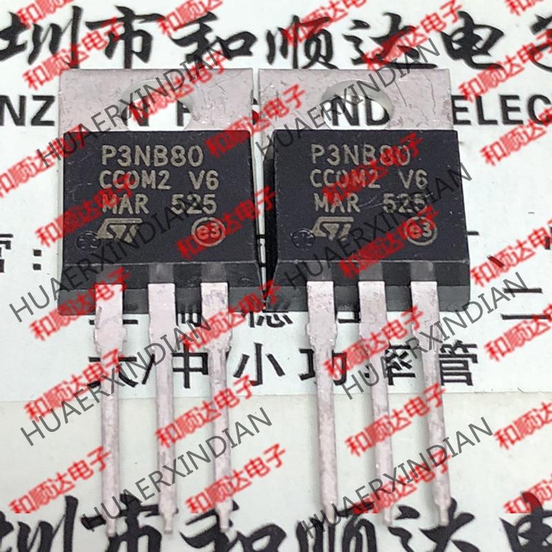Новый и оригинальный P3NB80 STP3NB80 TO-220 800V 2.6A