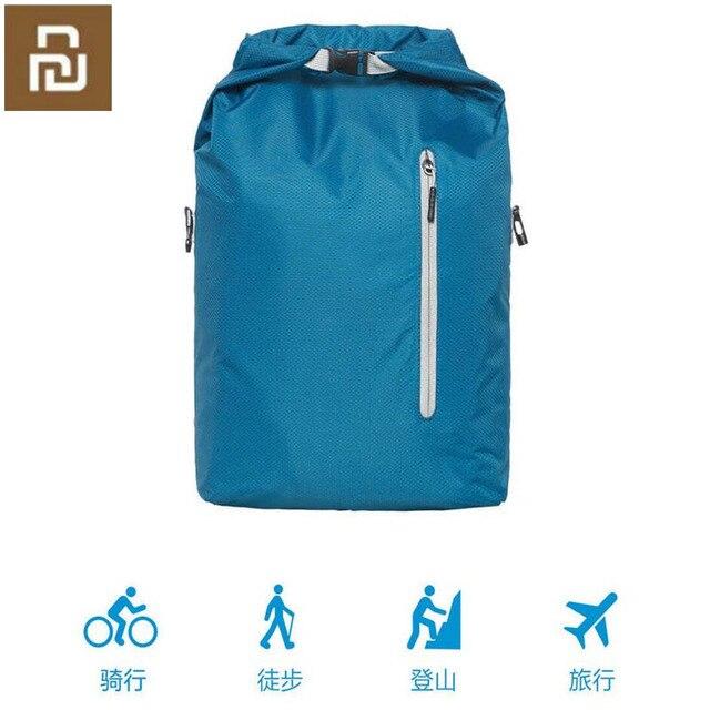 Youpin 90FUN Leichte Rucksack Faltbare Tasche Wasserdicht Daypack für Mann & Frau, 20L, Blau/Schwarz H30