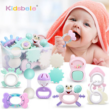 Baby Rattle Toys 0-12 Months Jingle Shaking Bell Infant Toys For Newborns Baby Rattles Teether Grip Handbell Toddler Toys