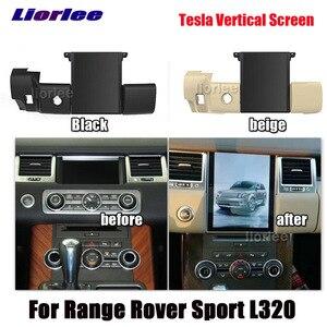 Image 1 - Dikey Tesla Android Land Rover Range Rover Sport için L320 2009 2013 radyo Android GPS navigasyon Carplay multimedya sistemi