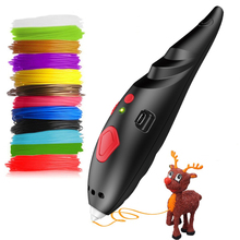 Ultra Low Temperature 3D Drawing Pen Children Drawing Toys 3D Printing Pen With ABS Filament DIY Painting Pens for Kids Gifts 3 colors low temperature gift box packing 3d pens for new year gift 3d printing pens for kid drawing with 10meter 10color pcl