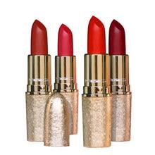 Matte Lipstick Makeup Velvet Nude Rich-Color Waterproof Long-Lasting Red MYG Pigment