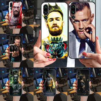 Irish Fighter Conor McGregor Phone case For Huawei P Mate Y3 Y9 10 20 30 40 Smart Z Pro Lite 2017 2019 black art back painting image
