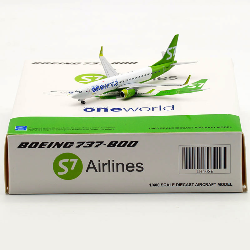 10CM Boeing B737-800 LH4086 S7 Siberian Airline 1/400 Scale Airplane Model Toy Aircraft Diecast Plastic Alloy Plane Gifts