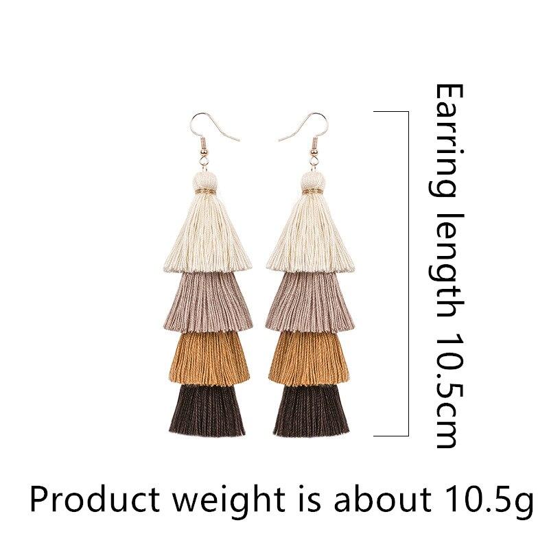 Hot-Bohemian-Fringe-Long-Gradient-Multilayer-Drop-Earrings-Women-Fashion-Jewelry-Dangle-Silk-Fabric-Ethnic-tassel